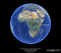 Amboseli via Google earth